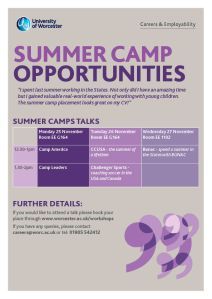 Careers summer placement promo