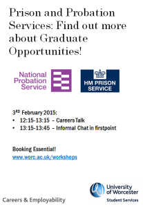 Graduate opportunities with prison and probation