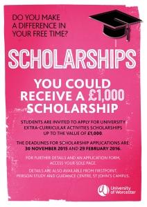 Scholarships 2015 poster