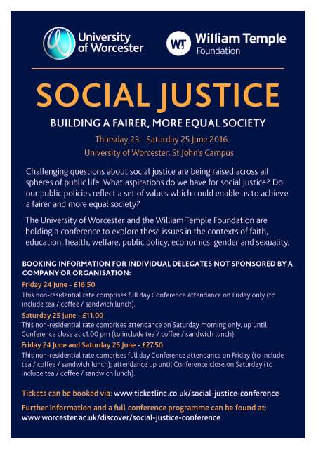 Social Justice A5 flyer