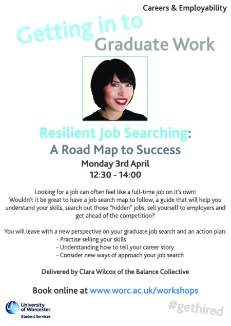 Resilient job hunting poster small