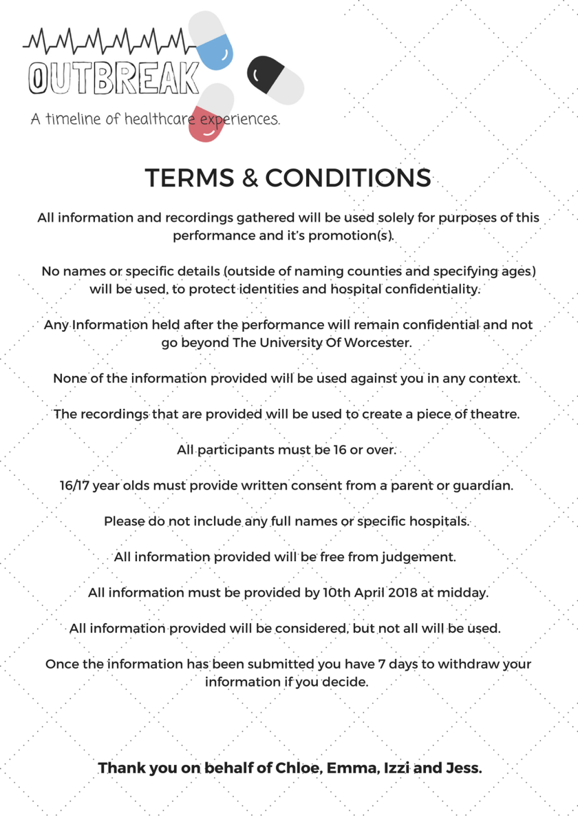Outbreak terms and conditions
