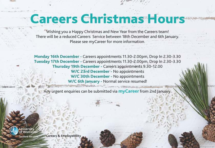 Xmas hours flyer